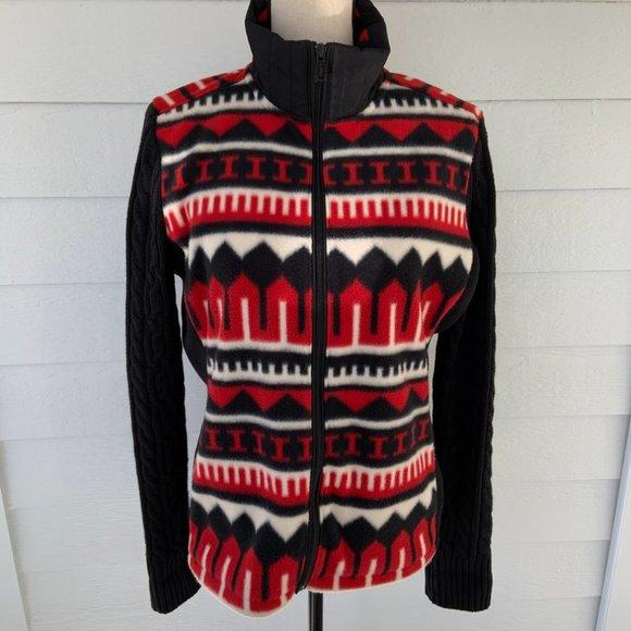 Lauren Ralph Lauren Fleece Sweater Jacket Black L